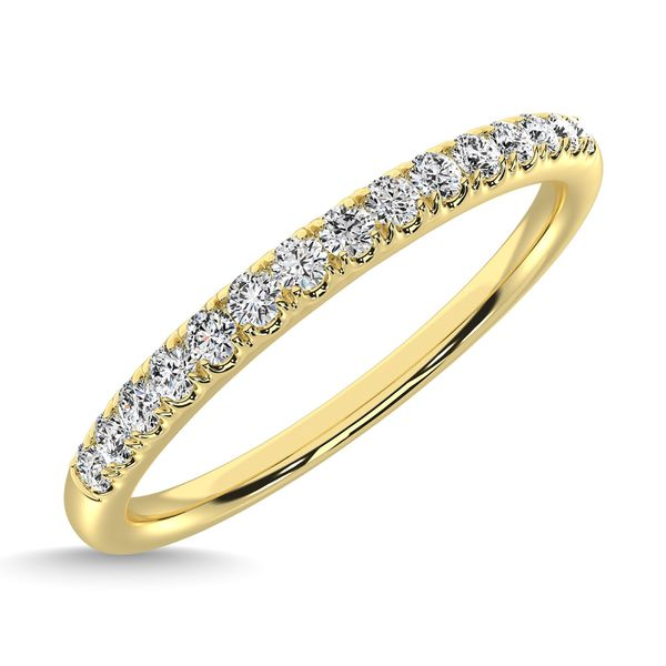 14K Yellow Gold Diamond 1/8 Ct.Tw. Men's Machine Band Image 3 Robert Irwin Jewelers Memphis, TN
