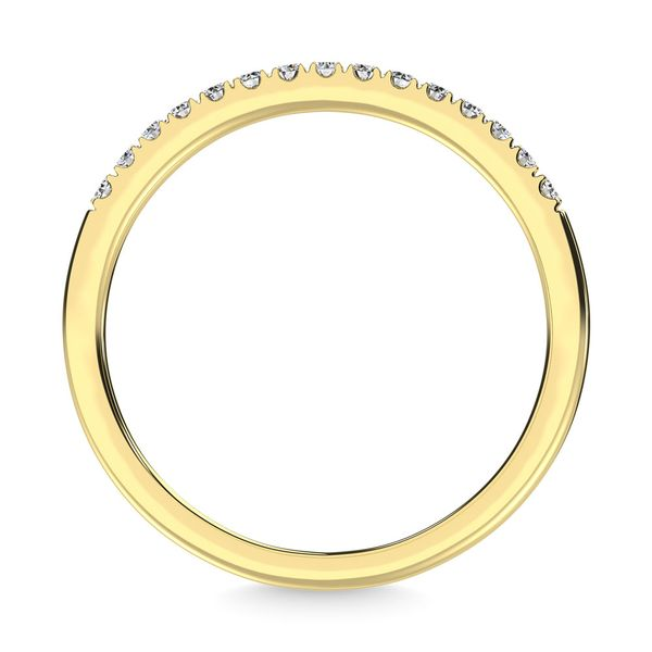14K Yellow Gold Diamond 1/8 Ct.Tw. Men's Machine Band Image 4 Robert Irwin Jewelers Memphis, TN