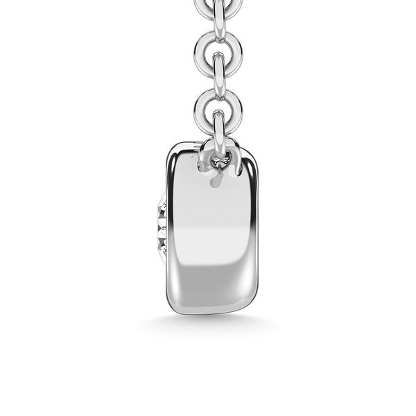 Diamond 1/20 Ct.Tw. Solitaire Necklace in 10K White Gold Image 3 Robert Irwin Jewelers Memphis, TN
