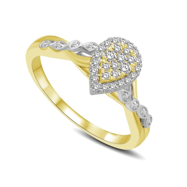 14K Two Tone Gold 1/4 Ct.Tw. Diamond Engagement Ring Robert Irwin Jewelers Memphis, TN