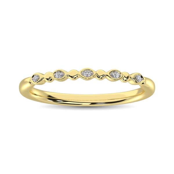 Diamond 1/50 Ct.Tw. Marquise and Bubble Shape Stackable Band in 10K Yellow Gold Image 2 Robert Irwin Jewelers Memphis, TN
