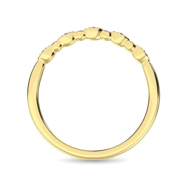 Diamond 1/50 Ct.Tw. Marquise and Bubble Shape Stackable Band in 10K Yellow Gold Image 4 Robert Irwin Jewelers Memphis, TN