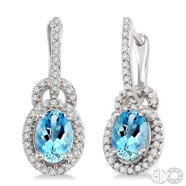 OVAL SHAPE GEMSTONE & DIAMOND EARRINGS Robert Irwin Jewelers Memphis, TN