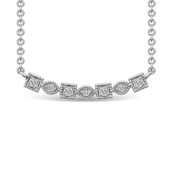 Diamond 1/10 Ct.Tw. Fashion Necklace in 10K White Gold Robert Irwin Jewelers Memphis, TN