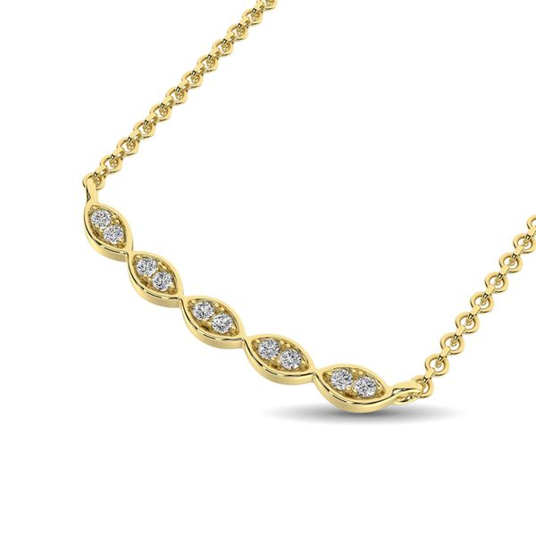 10K White Gold 1/10 Ctw Diamond Fashion Necklace Image 2 Robert Irwin Jewelers Memphis, TN