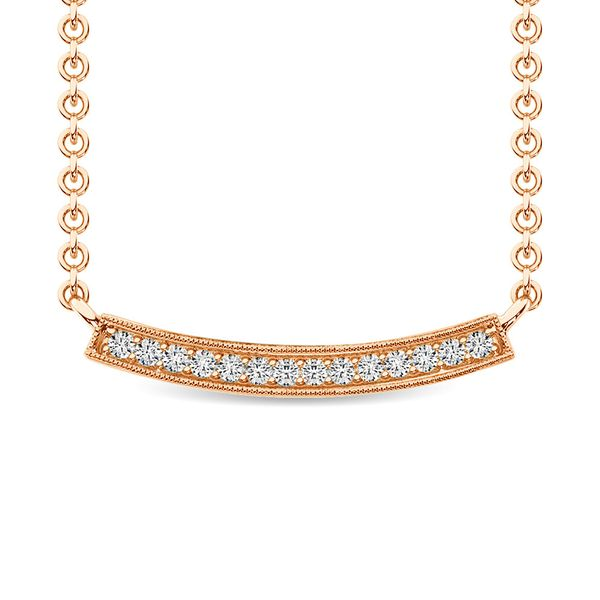 Diamond 1/10 Ct.Tw. Fashion Necklace in 10K Rose Gold Robert Irwin Jewelers Memphis, TN