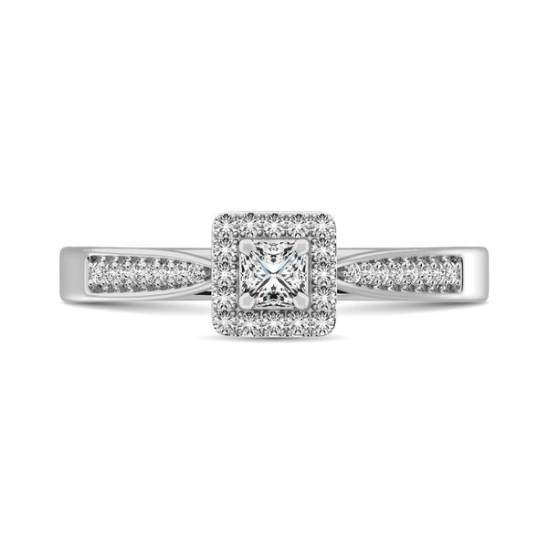 Diamond 1/6 Ct.Tw. Promise Ring in 10K White Gold Image 2 Robert Irwin Jewelers Memphis, TN