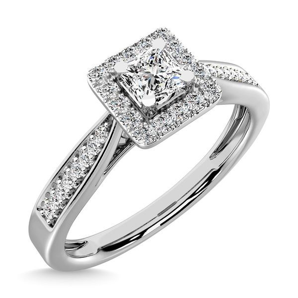 Diamond 1/6 Ct.Tw. Promise Ring in 10K White Gold Image 3 Robert Irwin Jewelers Memphis, TN