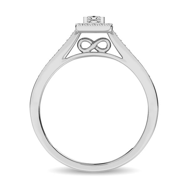 Diamond 1/6 Ct.Tw. Promise Ring in 10K White Gold Image 4 Robert Irwin Jewelers Memphis, TN