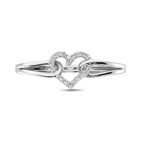 10K White Gold 1/20 Ctw Diamond Heart Ring Image 3 Robert Irwin Jewelers Memphis, TN
