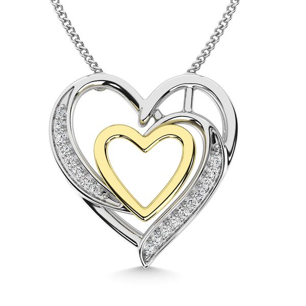 Diamond 1/20 Ct.Tw. Heart Pendant in 925 Silver Robert Irwin Jewelers Memphis, TN