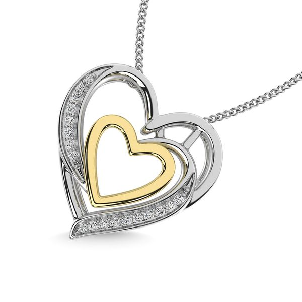 Diamond 1/20 Ct.Tw. Heart Pendant in 925 Silver Image 2 Robert Irwin Jewelers Memphis, TN