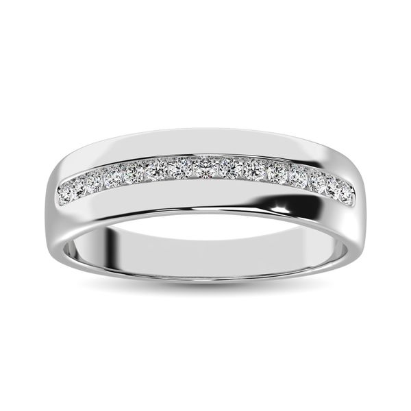 Diamond 1/4 Ct.Tw. Mens Fusion Band in 10K Two Tone Gold Robert Irwin Jewelers Memphis, TN