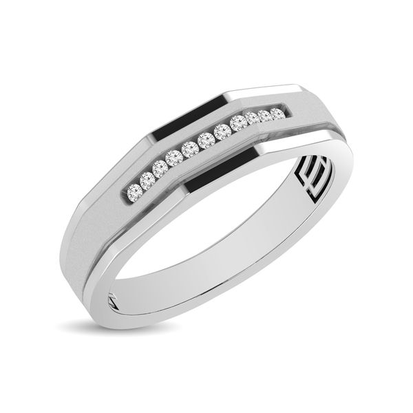 Mens 1/10 ctw Diamond Band in 10K White Gold Robert Irwin Jewelers Memphis, TN