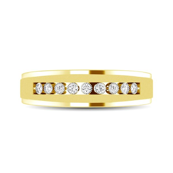 10K Yellow Gold 1/20 Ct.Tw. Diamond Illusion Ladies Band Robert Irwin Jewelers Memphis, TN