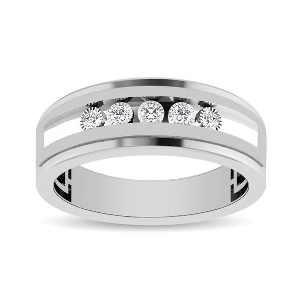 Diamond 1/6 Ctw 5 Stone Mens Band Image 3 Robert Irwin Jewelers Memphis, TN