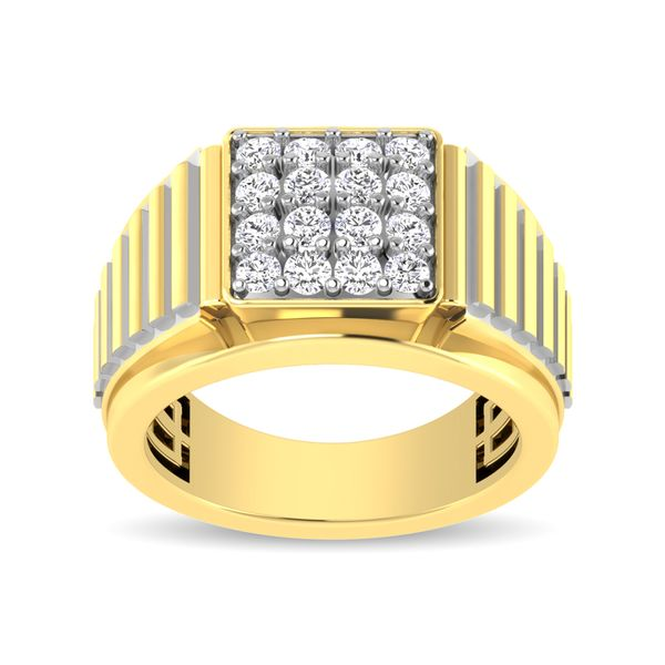 10K Yellow Gold 1 Ct.Tw. Diamond Mens Fashion Ring Image 3 Robert Irwin Jewelers Memphis, TN