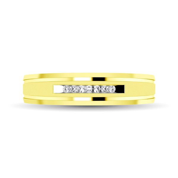 10K Yellow Gold 1/20 Ct.Tw. Diamond Comfort Fit Ladies Band Robert Irwin Jewelers Memphis, TN