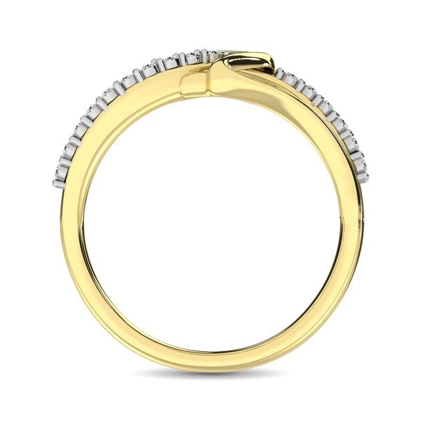 10K Yellow Gold 1/20 Ct.Tw. Diamond Heart Ring Image 4 Robert Irwin Jewelers Memphis, TN