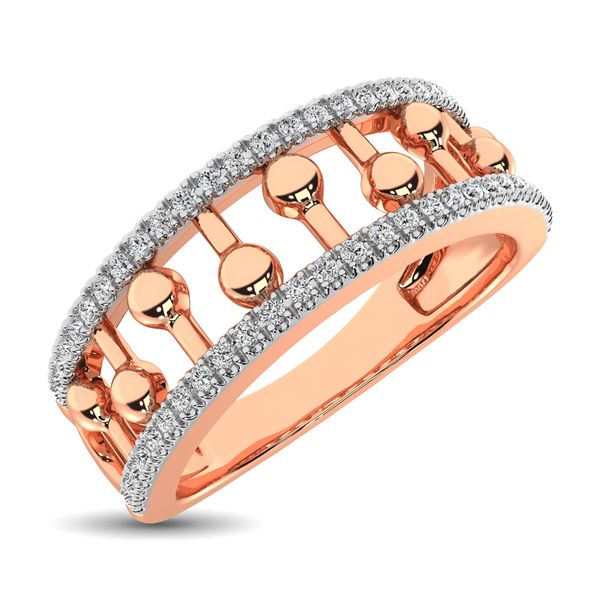 10K Rose Gold 1/4 Ct.Tw. Diamond Fashion Ring Robert Irwin Jewelers Memphis, TN