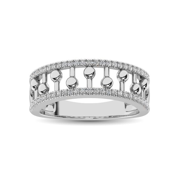 10K White Gold 1/4 Ct.Tw. Diamond Fashion Ring Image 2 Robert Irwin Jewelers Memphis, TN