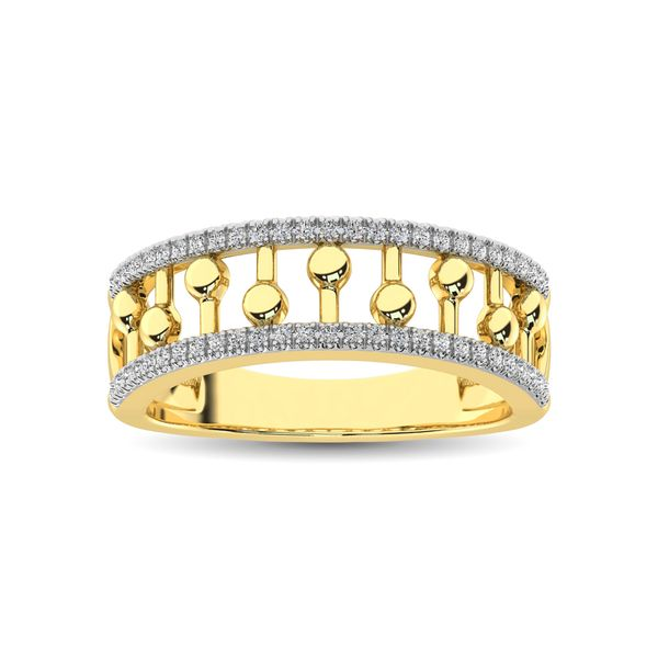 10K Yellow Gold 1/4 Ct.Tw. Diamond Fashion Ring Image 2 Robert Irwin Jewelers Memphis, TN