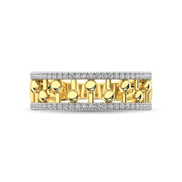 10K Yellow Gold 1/4 Ct.Tw. Diamond Fashion Ring Image 3 Robert Irwin Jewelers Memphis, TN