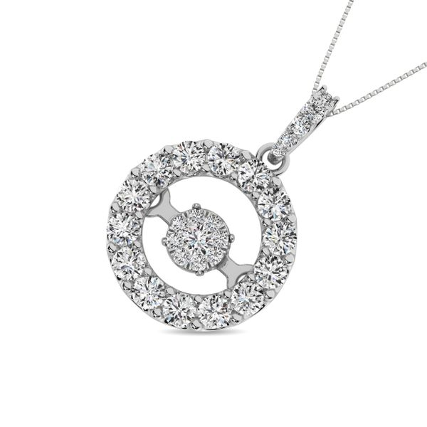 Diamond 1 Ct.Tw. Shimmering Pendant in 14K White Gold Image 2 Robert Irwin Jewelers Memphis, TN