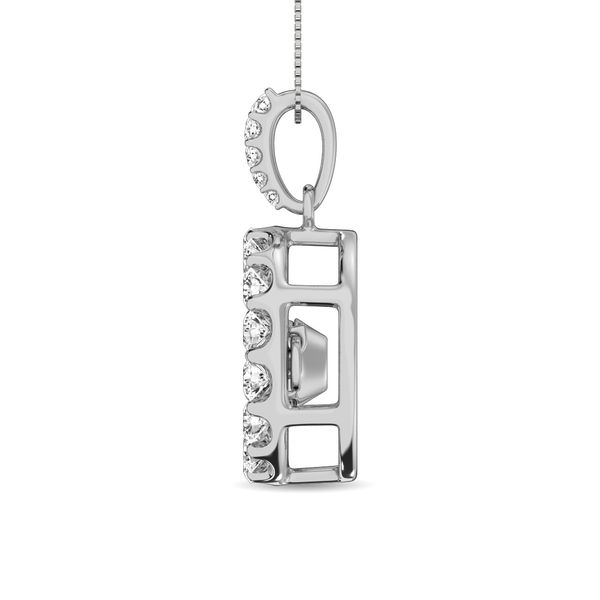 Diamond 1 Ct.Tw. Shimmering Pendant in 14K White Gold Image 3 Robert Irwin Jewelers Memphis, TN