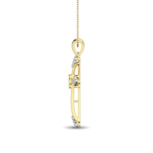 Gothic Style Diamond 1/5 Ct.Tw Cross Pendant in 10K Yellow Gold Image 3 Robert Irwin Jewelers Memphis, TN