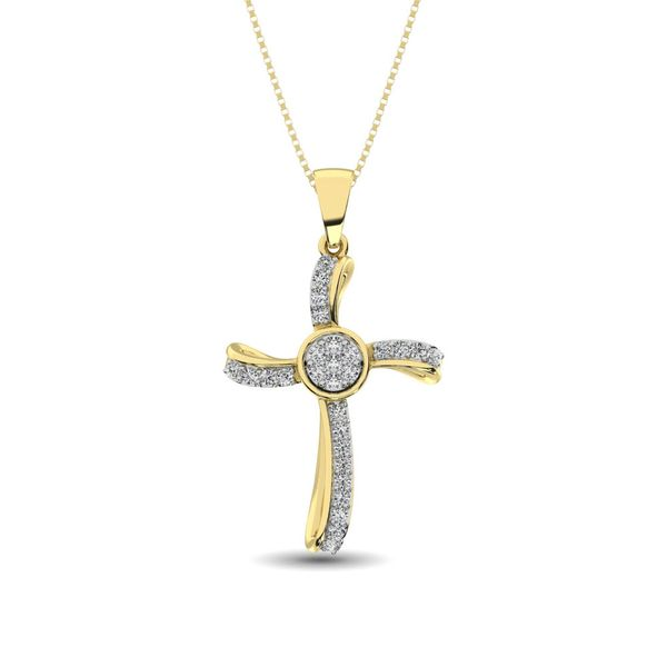 14K Yellow Gold 1/5 Ct.Tw. Diamond Cross Pendant Robert Irwin Jewelers Memphis, TN