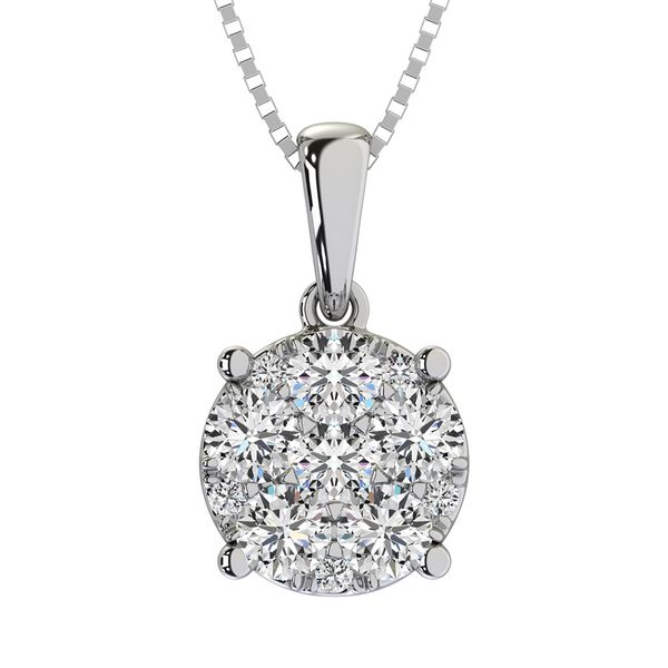Diamond 1/2 Ct.Tw. Flower Pendant Robert Irwin Jewelers Memphis, TN