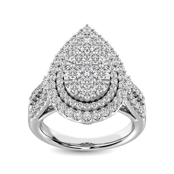 14K White Gold 2 Ct.Tw. Diamond Engagement Ring Robert Irwin Jewelers Memphis, TN