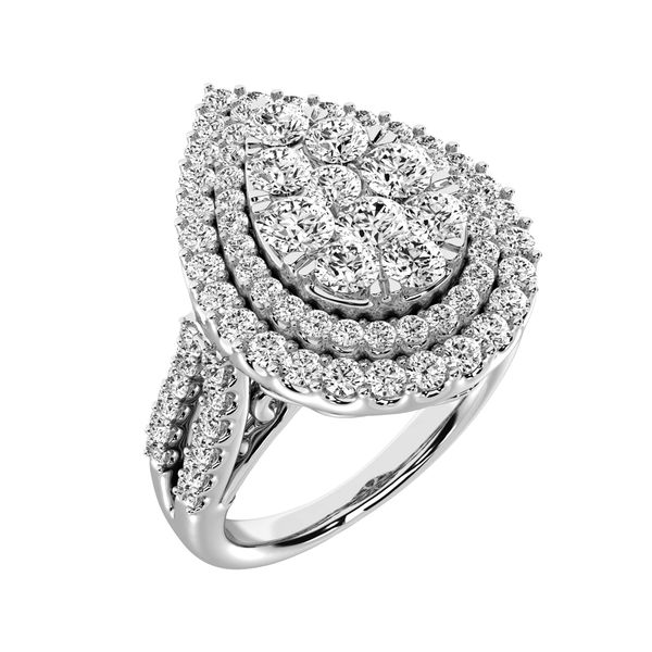 14K White Gold 2 Ct.Tw. Diamond Engagement Ring Image 2 Robert Irwin Jewelers Memphis, TN
