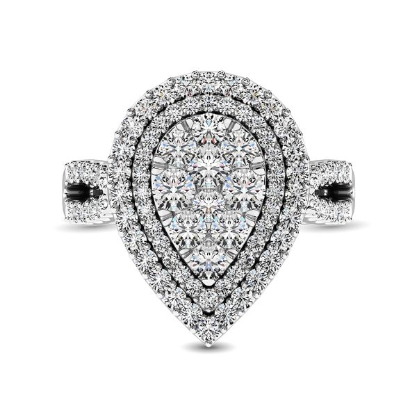 14K White Gold 2 Ct.Tw. Diamond Engagement Ring Image 3 Robert Irwin Jewelers Memphis, TN