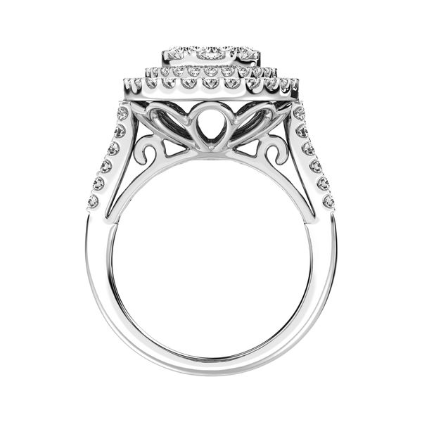 14K White Gold 2 Ct.Tw. Diamond Engagement Ring Image 4 Robert Irwin Jewelers Memphis, TN