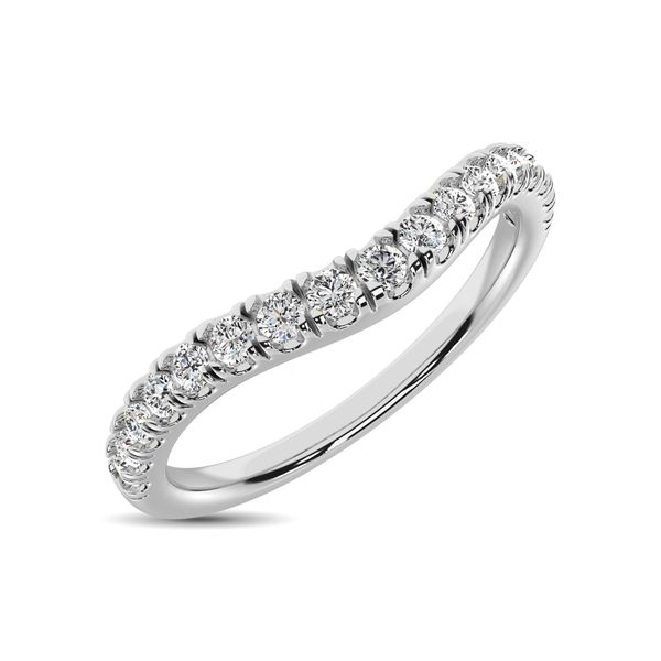 14K White Gold 1/3 Ct.Tw. Diamond Curve Band Robert Irwin Jewelers Memphis, TN