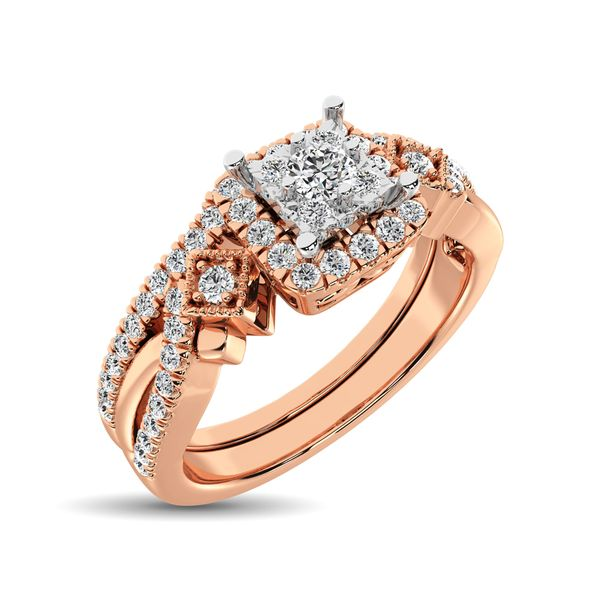 10K Rose Gold 2/5 Ct.Tw. Diamond Bridal Ring Robert Irwin Jewelers Memphis, TN