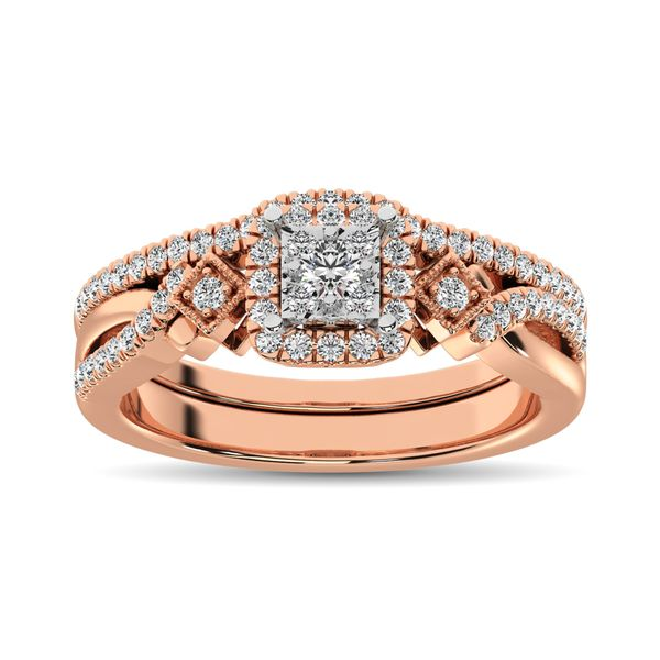 10K Rose Gold 2/5 Ct.Tw. Diamond Bridal Ring Image 2 Robert Irwin Jewelers Memphis, TN