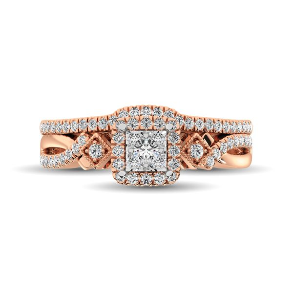 10K Rose Gold 2/5 Ct.Tw. Diamond Bridal Ring Image 3 Robert Irwin Jewelers Memphis, TN