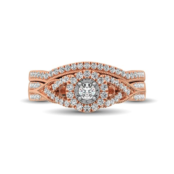 10K Rose Gold 1/2 Ct.Tw. Diamond Bridal Ring Image 2 Robert Irwin Jewelers Memphis, TN
