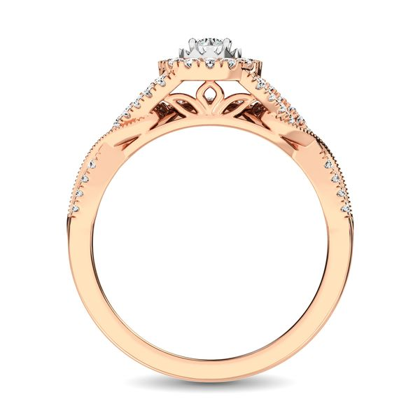 10K Rose Gold 1/2 Ct.Tw. Diamond Bridal Ring Image 4 Robert Irwin Jewelers Memphis, TN