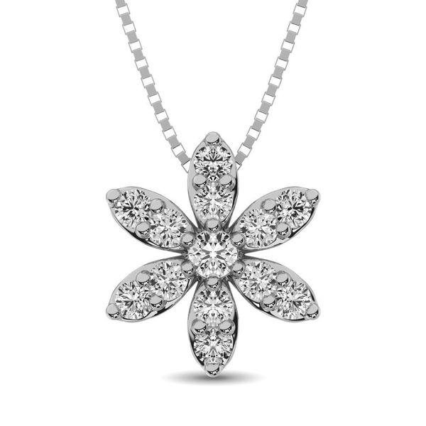 Diamond 1/4 Ct.Tw. Flower Pendant Robert Irwin Jewelers Memphis, TN