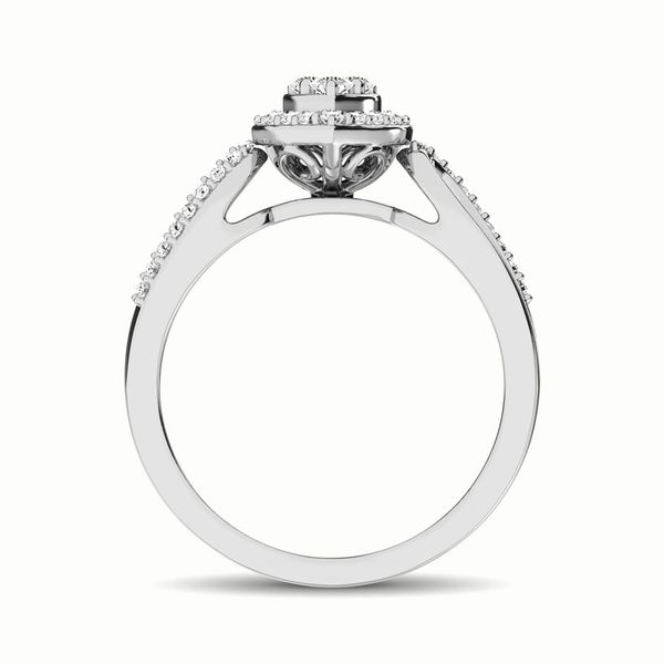 10K White Gold 1/4 Ct.Tw. Diamond Heart Engagement Ring Image 4 Robert Irwin Jewelers Memphis, TN