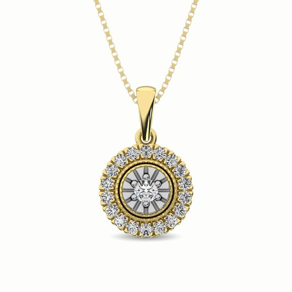 10K Yellow Gold 1/6 Ct.Tw. Diamond Pendant Robert Irwin Jewelers Memphis, TN