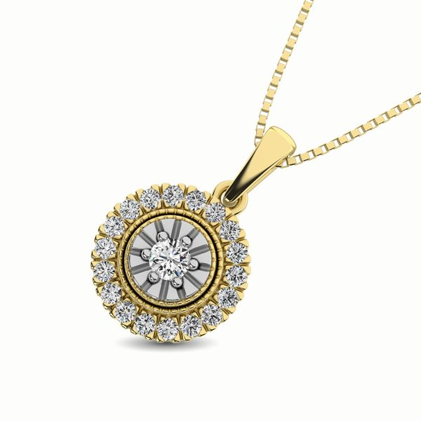 10K Yellow Gold 1/6 Ct.Tw. Diamond Pendant Image 3 Robert Irwin Jewelers Memphis, TN