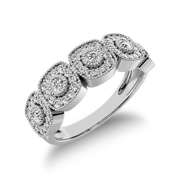 10K White Gold 2/5 Ct.Tw. Diamond Fashion Ring With Milgrain Detail Robert Irwin Jewelers Memphis, TN
