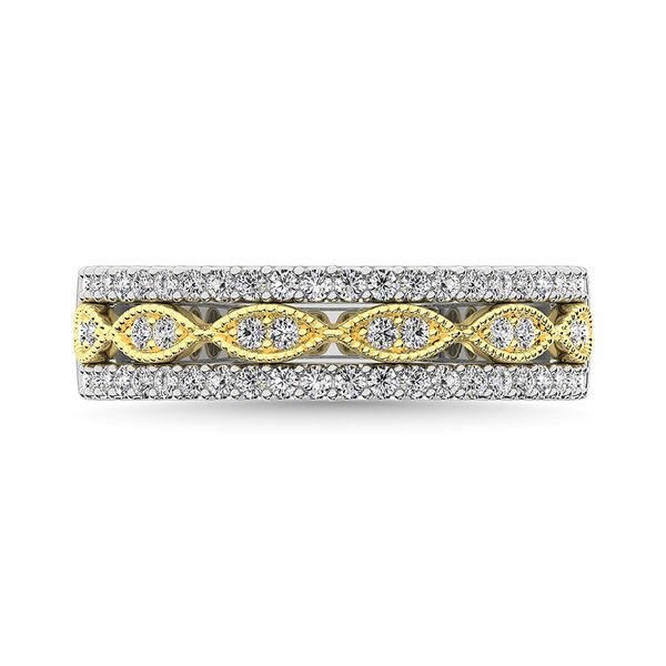 Diamond 3/8 Ct.Tw. Fashion Band in 10K Two Tone Gold Robert Irwin Jewelers Memphis, TN
