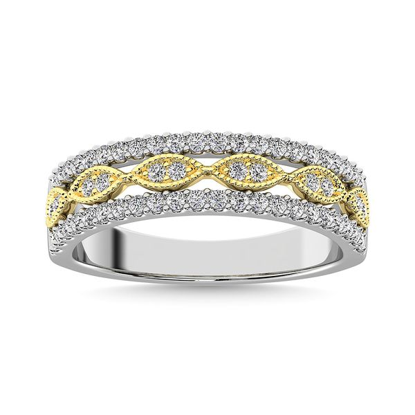 Diamond 3/8 Ct.Tw. Fashion Band in 10K Two Tone Gold Image 2 Robert Irwin Jewelers Memphis, TN