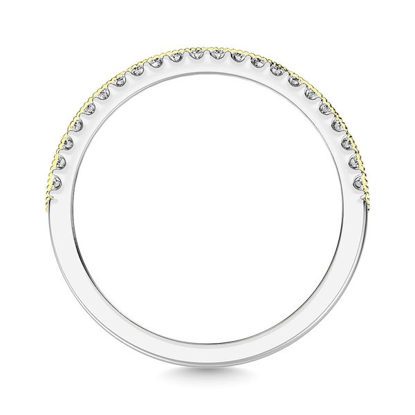 Diamond 3/8 Ct.Tw. Fashion Band in 10K Two Tone Gold Image 4 Robert Irwin Jewelers Memphis, TN